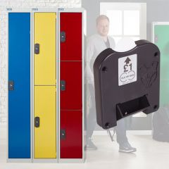 TUFF Coin Operated Lockers with a Coin Return Lock