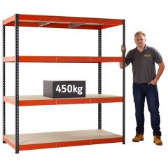TUFF Heavy Duty 450 Shelving - 450kg load UDL per level
