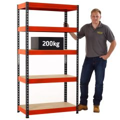 TUFF Value 200 Shelving with 200kg load capacity (UDL) per shelf