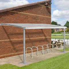 TUFF Wall Mounted Shelter - Galvanised