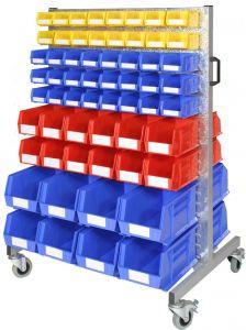 Bin trolleys with plastic storage bins