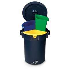 UniSort Duro Pedal Recycling Bin Closed