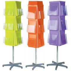 Vibrant 4 Sided Revolving Leaflet Dispensers