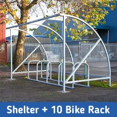 Vivo Cycle Shelter + 10 Bike Rack for only £999