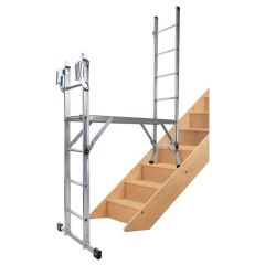 Werner Combination Ladders 5 way on stairs