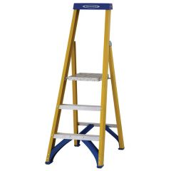 Werner Fibreglass Platform Trade Stepladder - 3 tread