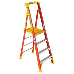 Werner Fibreglass Podium Ladders - 4 tread