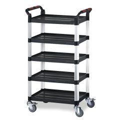 Utility Tray Trolleys - 5 Shelf