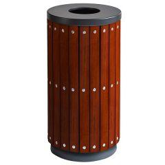 Wooden Effect Open Top Waste Bin