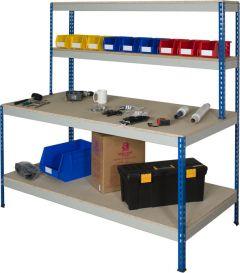 Rivet style workstation with full undershelf