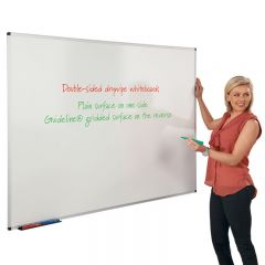 Write-On Dual Faced Whiteboard