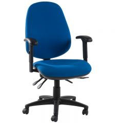 X Range Ergonomic Operator Chair, blue version. 7 colours to choose from