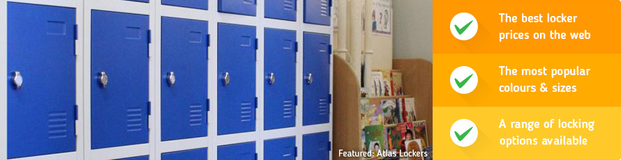 Budget storage lockers are ideal for general use and popular with staff