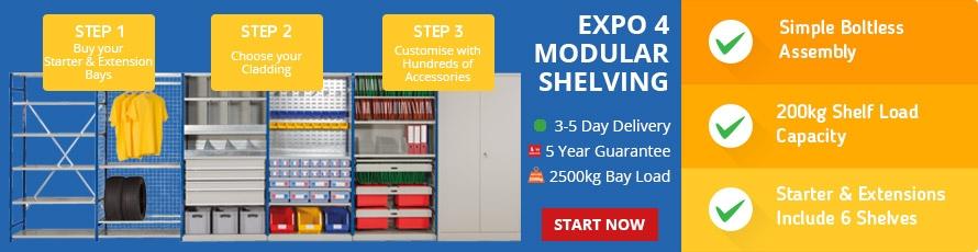E4 Modular Shelving Banner