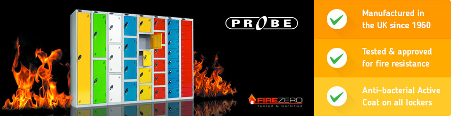 Probe lockers now tested and certified non-combustible