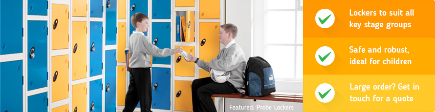 School Lockers for all key stage groups