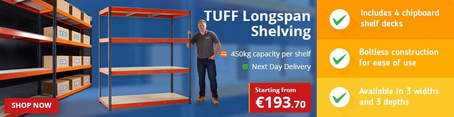 TUFF Longspan Shelving
